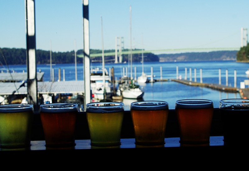 Narrows Brewing Company beer flight