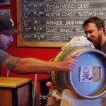 Tacoma-Beer-Week-2015-Justin-Peterson-taps-the-Ballast-Point-Firkin-at-The-Red-Hot