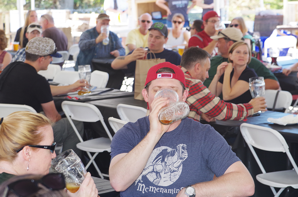 silver-city-brewery-20th-anniversary-party-drinking-beer