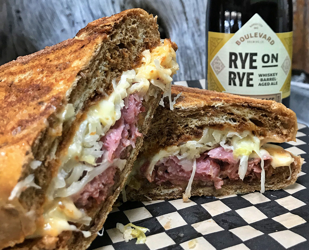 Boulevard-Brewing-Rye-On-Rye-paired-with-Peaks-Reuben
