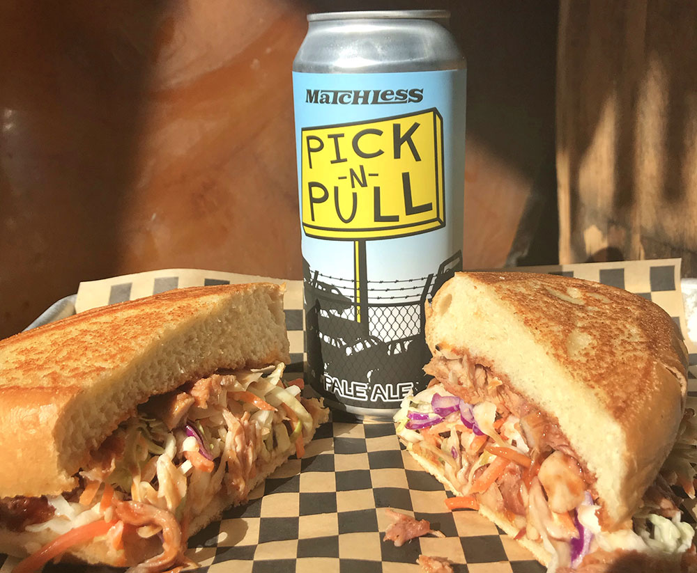 Pulled-Pork-Sandwich-pairs-Matchless-Pick-N-Pull-Pale-Tacoma
